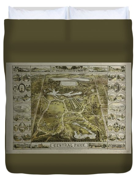 Duvet Cover featuring the photograph Central Park 1863 by Duncan Pearson