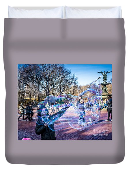 Central Park Bubbles Duvet Cover