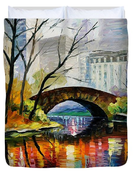 Central Park Duvet Cover by Leonid Afremov