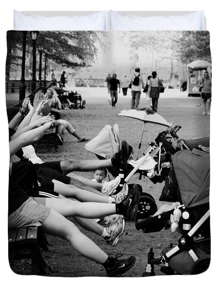 Central Park New York City Duvet Cover by Mark Ashkenazi