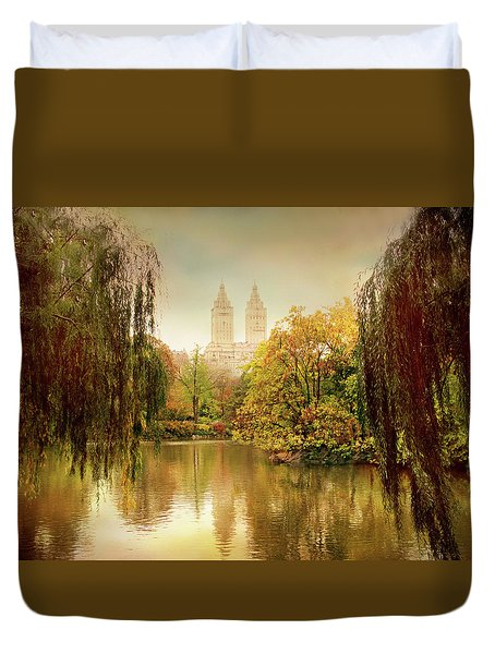Duvet Cover featuring the photograph Central Park Splendor by Jessica Jenney