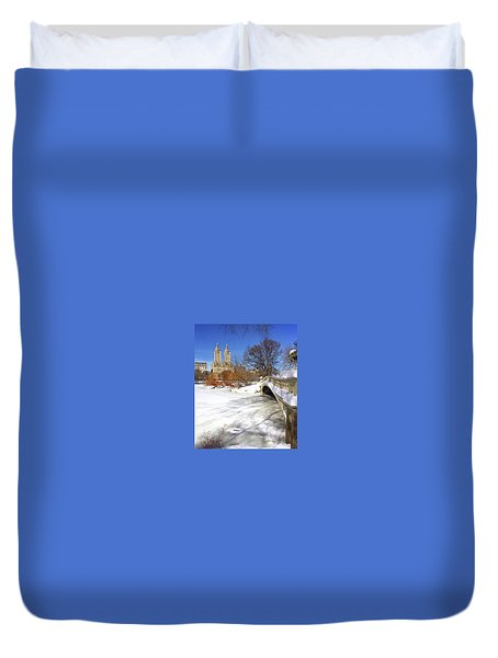 Central Park Winter Duvet Cover