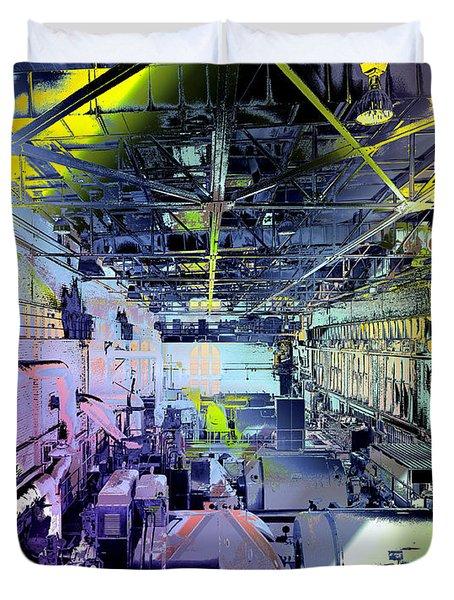 Grunge Central Power Station Duvet Cover
