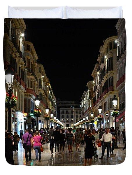 Centro De Malaga By Night - #ig_malaga Duvet Cover