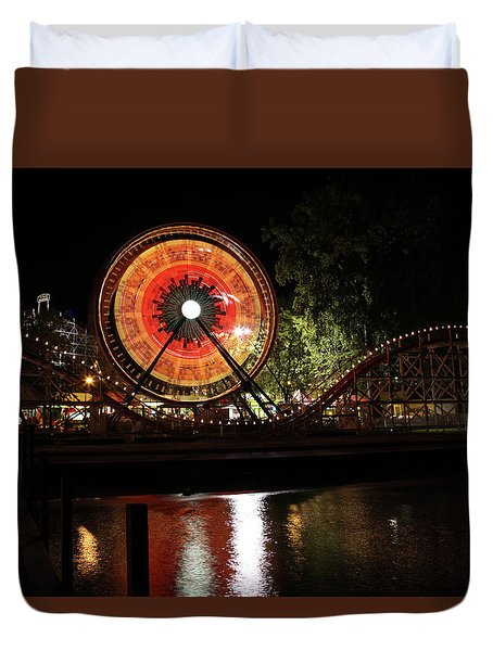 Century Wheel Duvet Cover