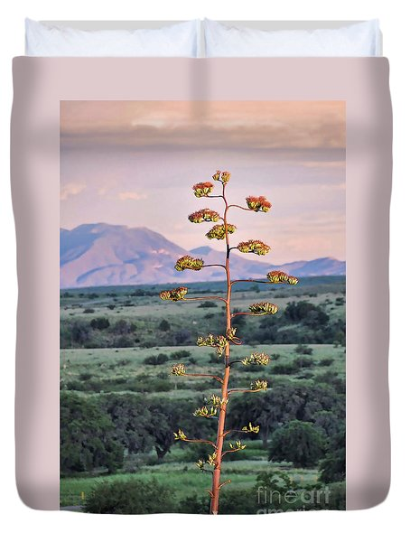 Duvet Cover featuring the photograph Centuryplant by Gina Savage