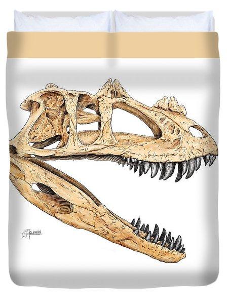 Ceratosaur Skull Duvet Cover