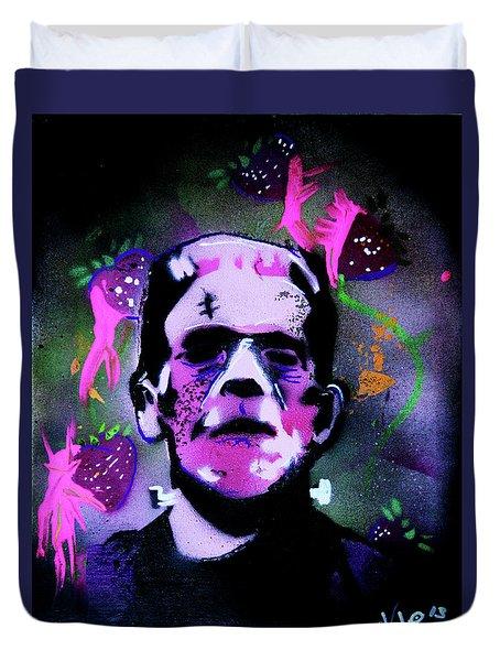 Cereal Killers - Frankenberry Duvet Cover by eVol i