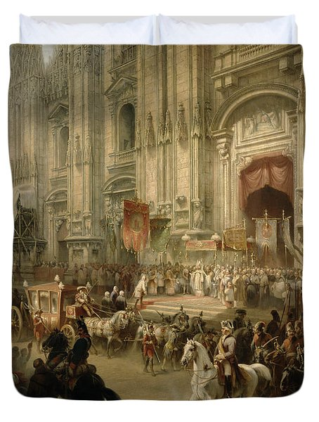 Ceremonial Reception Duvet Cover by Adolf Jossifowitsch Charlemagne