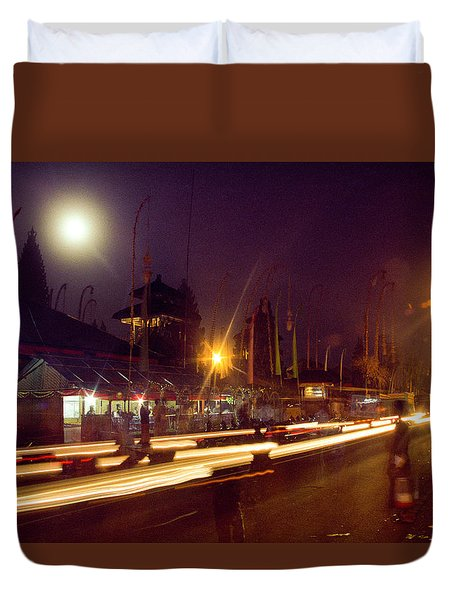 Duvet Cover featuring the photograph Ceremonious Crossings by T Brian Jones