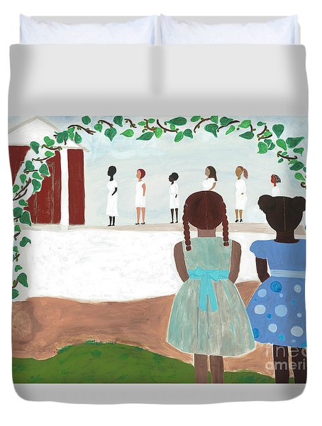 Ceremony In Sisterhood Duvet Cover