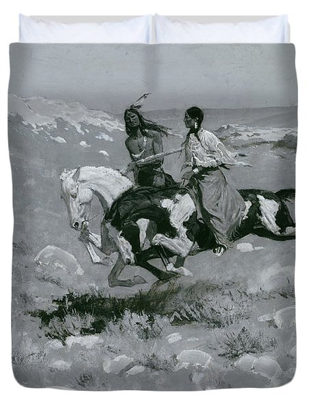 Ceremony Of The Fastest Horse Duvet Cover