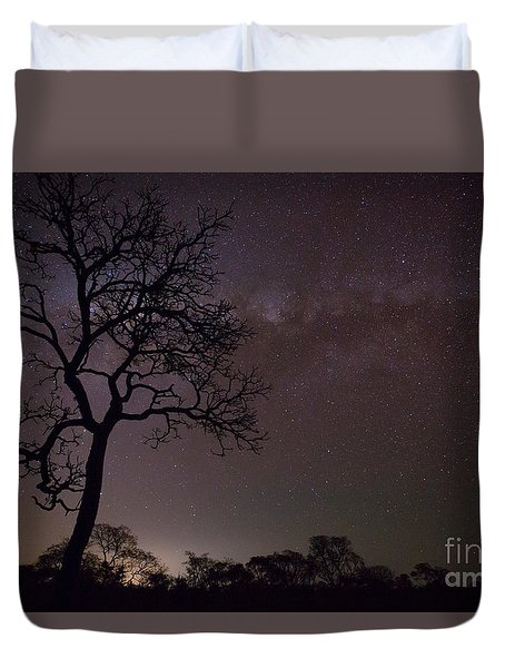 Duvet Cover featuring the photograph Cerrado By Night by Gabor Pozsgai