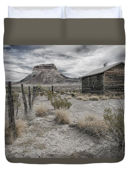 Cerro Castellan - Big Bend  Duvet Cover