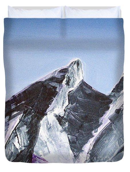 Cerro De La Silla Of Monterrey Mexico Duvet Cover