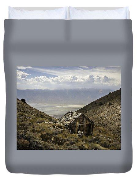 Cerro Gordo Cabin Duvet Cover