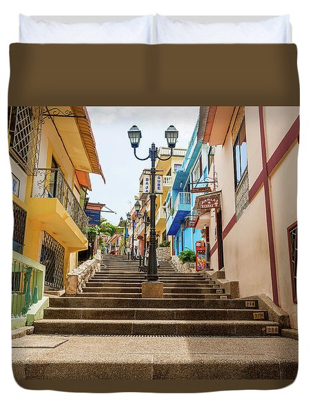Cerro Santa Ana Guayaquil Ecuador Duvet Cover
