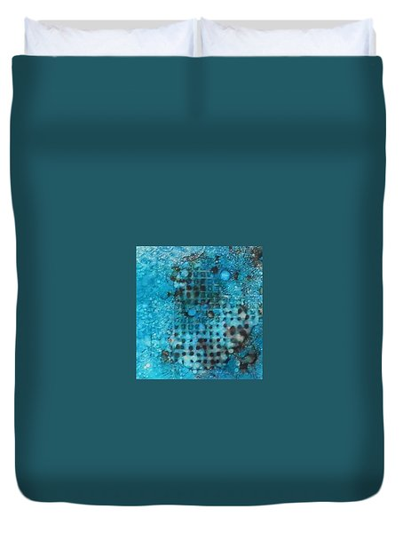Duvet Cover featuring the painting Cerulean Dream Ink #23 by Sarajane Helm