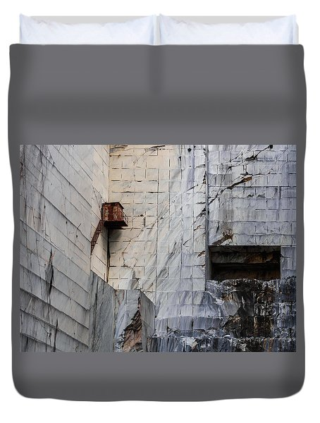 Cervaiole Quarry - Apuan Alps, Tuscany Italy Duvet Cover