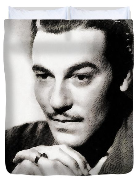Cesar Romero, Vintage Hollywood Actor Duvet Cover