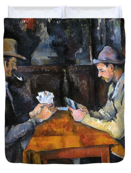 Cezanne: Card Player, C1892 Duvet Cover by Granger