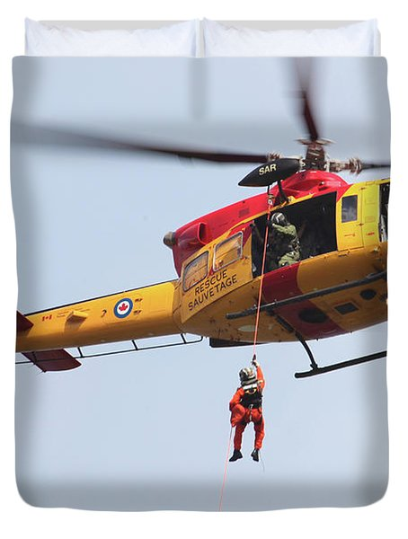 Ch-146 Griffon Of The Canadian Forces Duvet Cover by Timm Ziegenthaler