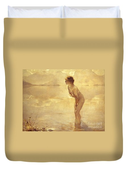 Chabas, September Morn Duvet Cover