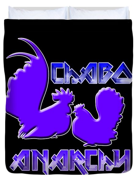 Chabo Anarchy Bluepurple Duvet Cover