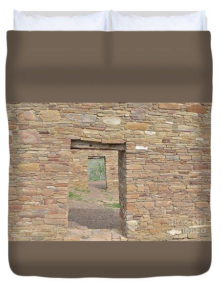 Chaco Canyon Doors Duvet Cover