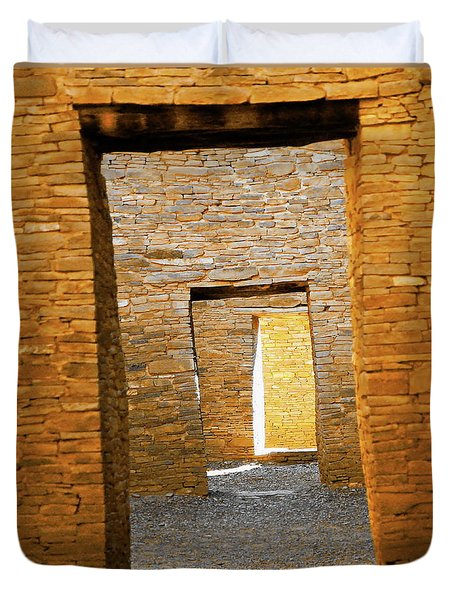 Chaco Canyon Doorways Duvet Cover