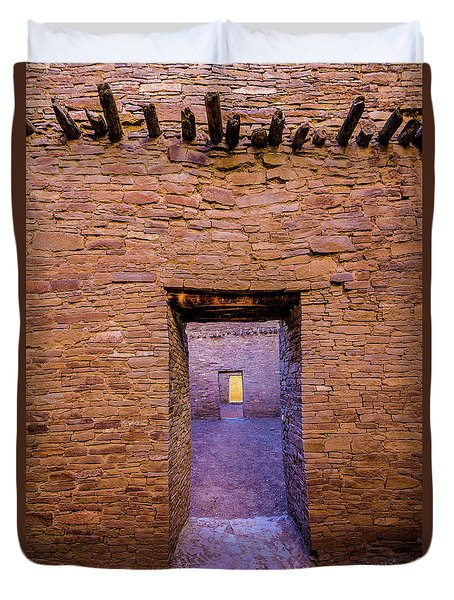 Chaco Canyon - Pueblo Bonito Doorways - New Mexico Duvet Cover