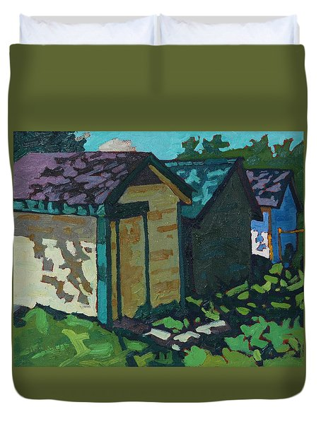 Chaffey Boat Houses Duvet Cover