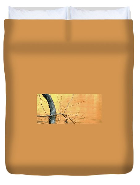 Duvet Cover featuring the photograph Chagrin River Gold by Bruce Patrick Smith