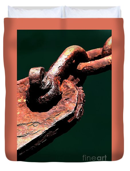 Duvet Cover featuring the photograph Chain Age II by Stephen Mitchell