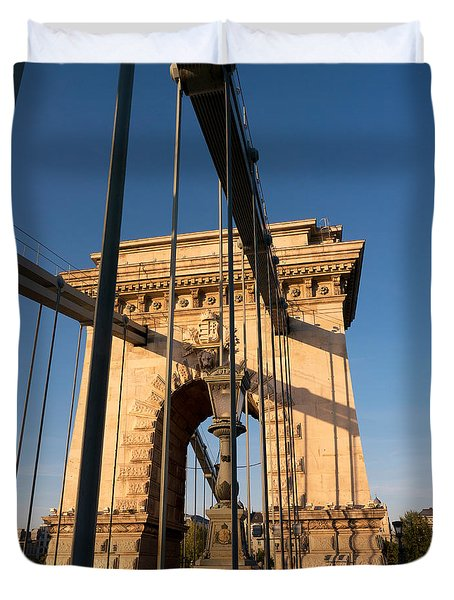 Chain Bridge Budapest  Duvet Cover
