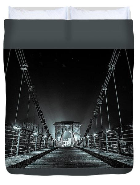Chain Bridge Duvet Cover