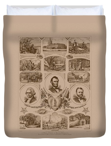 Chain Of Events In American History Duvet Cover by War Is Hell Store