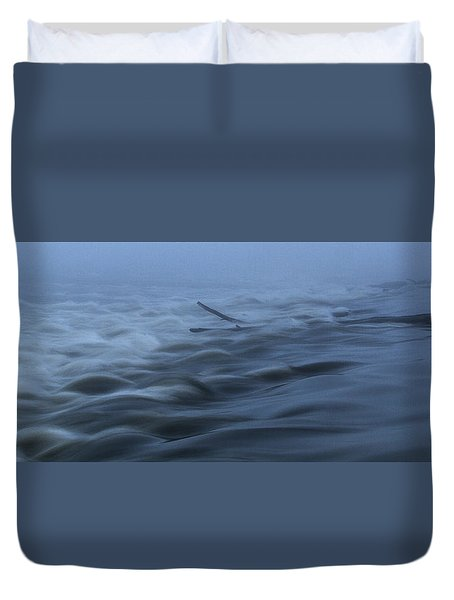 Chain Of Rocks On The Mississippi River Duvet Cover