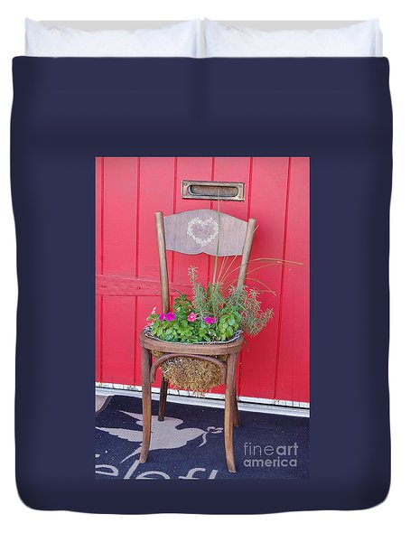 Chair Planter Duvet Cover