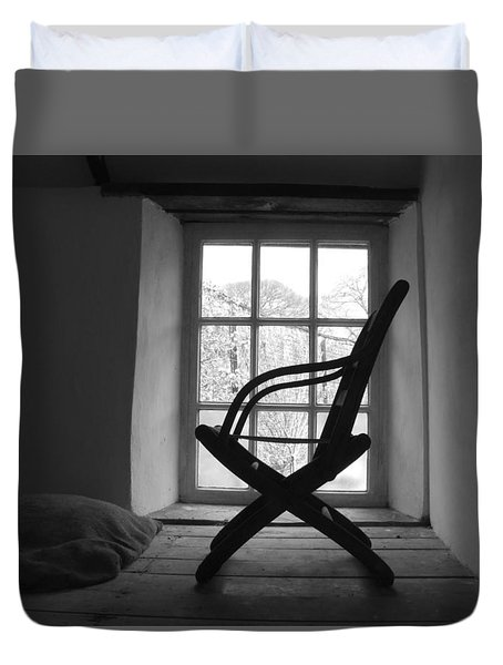 Chair Silhouette Duvet Cover by Helen Northcott