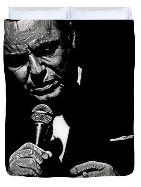 Chairman Of The Board Duvet Cover by Dan Menta