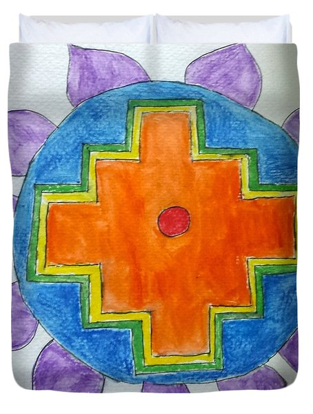 Chakana Inka Cross Duvet Cover