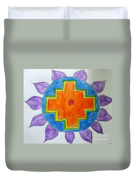 Chakana Inka Cross Duvet Cover