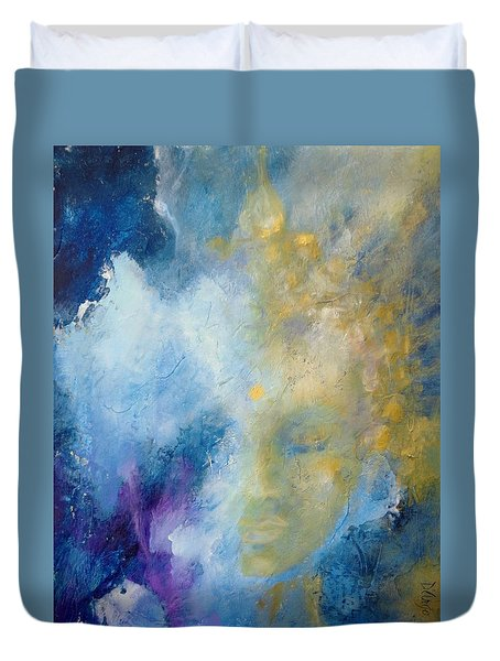 Duvet Cover featuring the painting Chakra by Dina Dargo