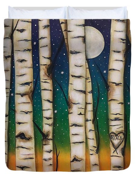 Chakra Rainbow Forest Duvet Cover