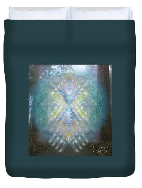Chalice-tree Spirit In The Forest V1 Duvet Cover by Christopher Pringer