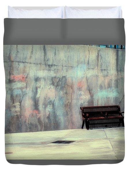 Chalk N Bench Duvet Cover
