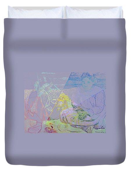 Chalkboard Duvet Cover by David Bridburg