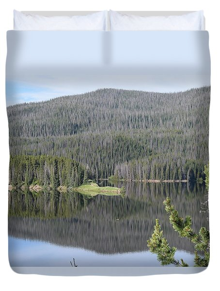 Chambers Lake Hwy 14 Co Duvet Cover