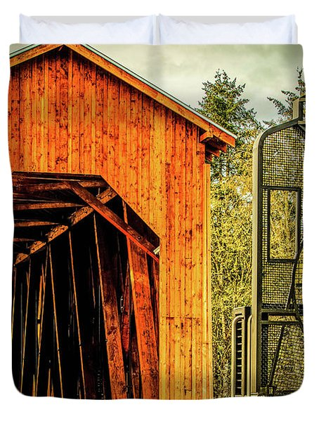 Chambers Railroad Bridge Duvet Cover